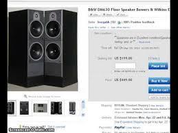 B W Bookshelf Speakers For Sale For Sale Sold B U0026w Dm630 Floor Speakers Bower U0026 Wilkins Vintage
