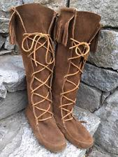 womens fringe boots size 11 minnetonka moccasin fringe boots ebay