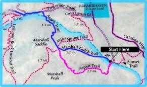 mt lemmon hiking trails map hiking mt lemmon