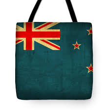 Nee Zealand Flag New Zealand Flag Vintage Distressed Finish Tote Bag For Sale By