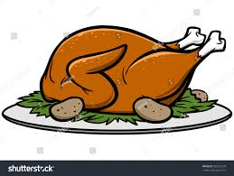 roast turkey dinner stock vector 209013139 shutterstock
