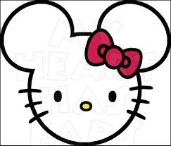 kitty minnie ears head instant download digital clip art