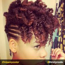black updo hairstyles atlanta dyeing natural hair red and blonde flat twist updo flat twist