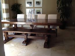 Farm House Tables Ana White Triple Pedestal Farmhouse Table And Bench Diy Projects