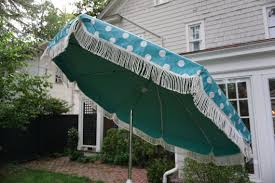 Used Patio Umbrella Vintage Patio Umbrella Never Used 1960 Turquoise Blue Polka Dot 7