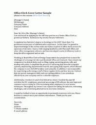 senior clerk cover letter