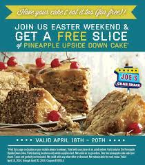 coupons for joe s crab shack pinned april 20th pineapple cake free with your entree today at