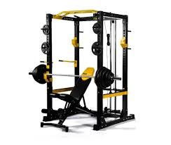 Weight Bench Package New Package Powertech Fitness Heavy Duty Commercial Power Rack