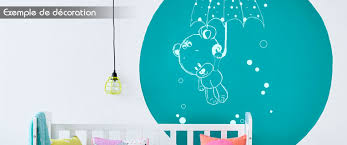 stickers nounours pour chambre bébé stickers nounours et parapluie