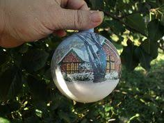 vincent gogh starry painted glass ornament