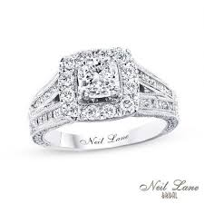 neil bridal set neil bridal collection 2 ct t w cushion cut diamond frame