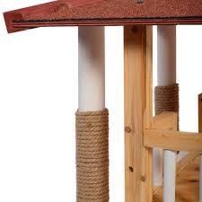 amazon com indoor cat house outdoor pet shelter roof condo wood