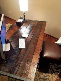 Diy Office Desks Diy Rustic Office Desk Desks Pinterest Rustic