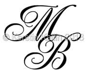 monogram letter b monograms with letters b and m the monogram page