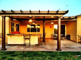 Patio Cover Lights Exterior Design Simple Alumawood Patio Cover With Patio Furniture