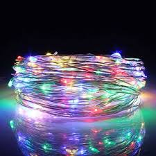 30m led silver wire fairy string light christmas wedding party