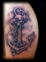 amazing 3d anchor and chain cross tattoos on ribs photos