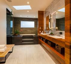 High End Bathroom Lighting Natural House Echoes Environment In Form And Materials