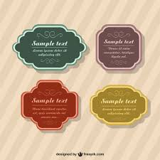 vintage badges templates in different colors vector free download