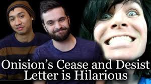Cease And Desist Harassment Letter Template Onision S Cease And Desist Letter Is Hilarious Youtube