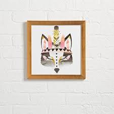 wolf rug spirit halloween boho wolf wall art the land of nod