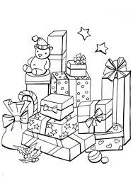 coloring pages of presents christmas presents coloring page