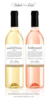will you be my bridesmaid wine labels custom will you be my bridesmaid wine labels be
