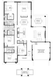 4 bedroom floor plans one story 3 bedroom house plans one story australia www