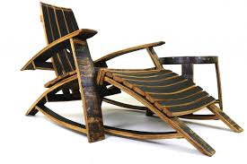 Rocking Chair With Ottoman Bourbon Barrel Lounge Chairs By Hungarian Workshop