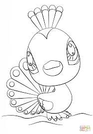 littlest pet shop peacock coloring page free printable coloring
