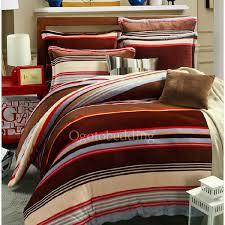 Flannel Duvet Covers Flannel Winter Brown Stripe Duvet Cover King Size Ogtbd150115111718 1 Jpg