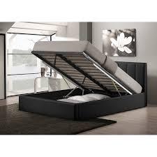 queen platform bed with storage vito storage platform bed queen