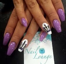 42 white tip nails with purple design picsrelevant