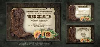 country style wedding invitations sunflower wedding invitations vintage rustic wedding invitations