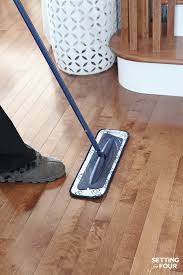 cleaning your hardwood floors setting for four
