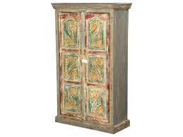 interior van gogh swirls solid wood 2 door armoire cabinet mango