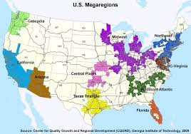 Regional Map Of The United States by Multimodal Planning At The Megaregional Scale