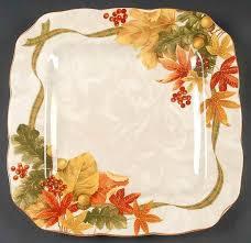 thanksgiving dinnerware tableware new 222 fifth autumn celebration dinner plates set 6 fall leaves