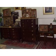 5 piece serpentine mahogany drexel bedroom set ssr