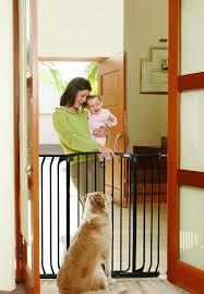 amazon com bindaboo hallway pet gate swing closed black extra