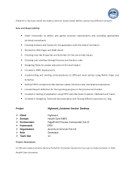 Sample Resume Application by Pega Sample Resume