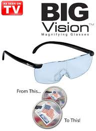 magnifying eyeglasses with light as seen on tv big vision magnifying glasses amerimark online catalog shopping
