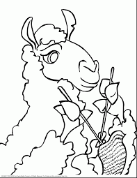 Printable Halloween Coloring Pages by Extraordinary Cartoon Llama Coloring Pages With Llama Coloring