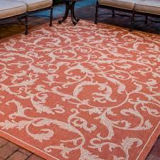 Safavieh Outdoor Rugs Safavieh Courtyard Terracotta Natural 9 Ft X 12 Ft Indoor