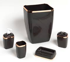 Contemporary Bathroom Accessories Sets - 5 piece bath ensemble contemporary bathroom accessory sets
