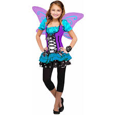 Pinkalicious Halloween Costume Blue Purple Butterfly Girls Dress Halloween Costume Walmart