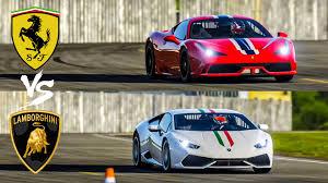 lamborghini huracan vs 458 458 speciale vs lamborghini huracan top gear track