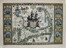 the map of old cape cod the land of bold explorers heroic