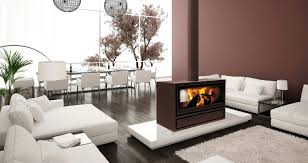 three sided fireplace pictures unique open design double 3 two