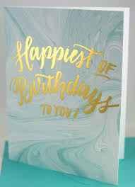 blue marble foil birthday greeting card new